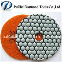 3 Inch Resin Hook flexible Diamond Polishing Honeycomb Dry Pad