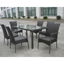 Outdoor Dining Furniture Stack Chair KD Table