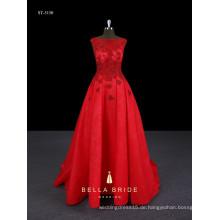 Sweetheart Perlen rotes langes elegantes marokkanisches Hochzeitskleid mit Ballkleid