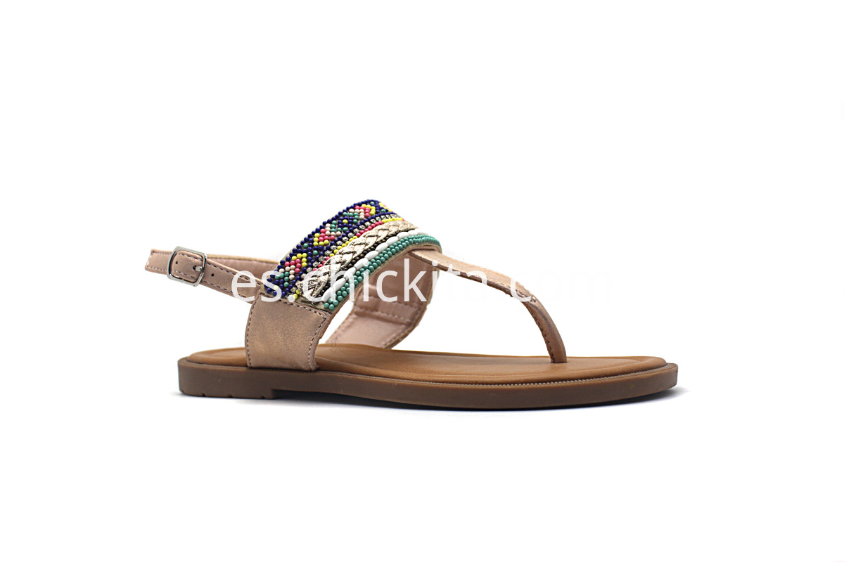 Children Flat Fashion Sandals with Colorful Decoration