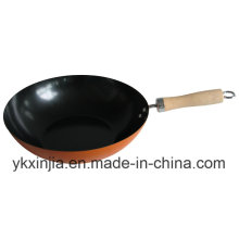 Carbon Steel Non-Stick Wok Kitchenware for Europe Market