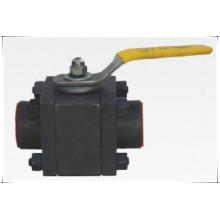 La valve à tournant sphérique 3PC a forgé la classe en acier 800 NPT