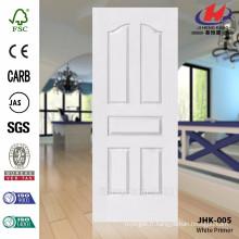 JHK-005 Nouvel apprêt blanc de surface lisse de conception avec une peau de porte de haute qualité