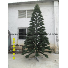 Realistic Christmas Tree in PE Tips with Incandenscent Light (full range of sizes)