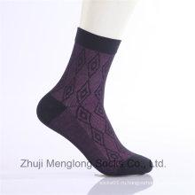 Алмаз дизайн мужчин бизнес носки платье случайный повседневной носки хлопка