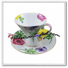 B126 180ml YAMI Chrysanthemum thé tasses et soucoupes 2 Set