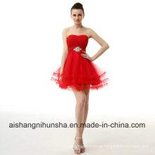 Homecoming Kleid Schatz Perlen Sleeveless Tulle Short Mini Abendkleid