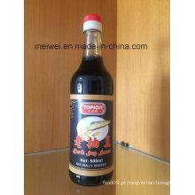 500ml de molho de soja escuro com alta qualidade