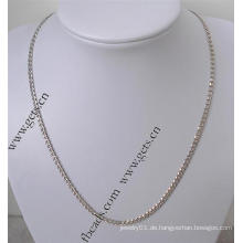 Gets.com 925 Sterling Silber echte Gold Halskette om
