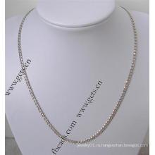 Gets.com 925 стерлингового серебра ожерелье из натурального золота