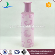 YSv-29 Pink Plain Ceramic Vase