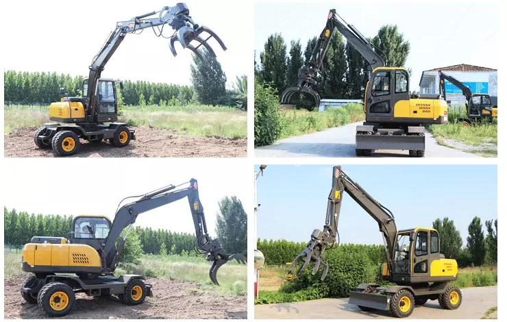 Use of wheel excavator