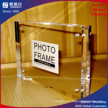 Magnetischer klarer Acryl-Fotorahmen