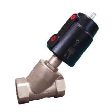 Válvula de asiento angular - Estructura de pistón de baja abrasión