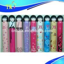 Neues Designgeschenkregenschirm 2018 / populärer japanischer Puppenregenschirm