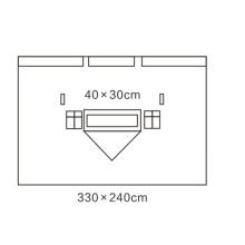 Vliesstoff Einfach zu verwenden Vertikaler OP-Abdecktuch
