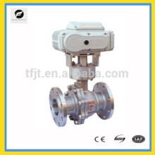AC24V abd AC220 Electric Flange Ball Valve for petroleum, chemical industry, metallurgy, paper making, power station etc