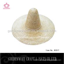 Chapéu de palha de cowboy sombrero para adulto