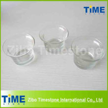 Runde Form transparente Glas Kerzenhalter