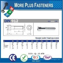 Fabricado en Taiwán DIN 912 Hexagonal Socket Head Tornillo de cabeza Allen Drive Internal Hexagonal Drive