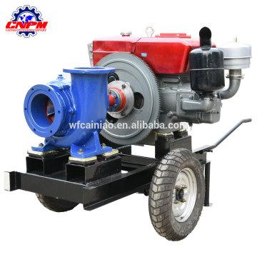 Hand drücken Dieselmotorwasserpumpe mit Fabrikpreis
