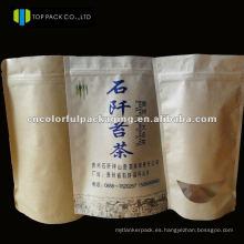 Impresión de papel Kray Doypack / embalaje Al / PE Estuche para café u otros