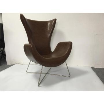 modern high-back sofa chair with metal legs microfiber