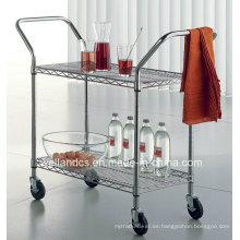 Desmontable Cromo de acero comedor carrito para hotel y restaurante