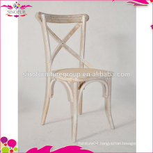 Stackable Old Event Wooden Cross back Chair