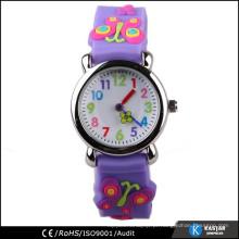 Promoção relógio de silicone pulseira de silicone com borboleta