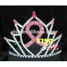 Tiara cristalina del desfile de la cinta de la joyería del pelo de la manera