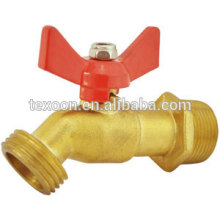 brass ball valve faucet with hose end faucet