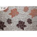 Flor de poliéster Chenille patrón sofá tela (fth31951)