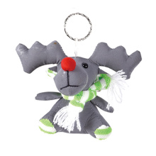 Reflective safety key ring deer with scarf