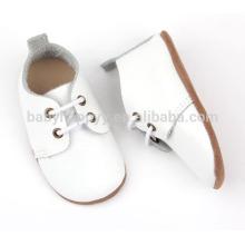 Vente chaude de chaussures oxford blanches Chaussures en cuir véritable pour bébé