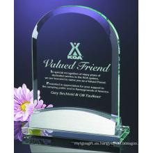 Premio de trofeo cristalino popular diseño personalizado para regalos promocionales