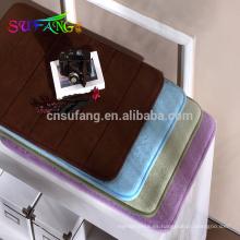 Alfombra de baño de algodón del hotel espuma de la memoria baño del hotel antideslizante alfombra de baño usada