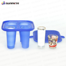 Neue 1,5oz 3oz Gummi-Schuss Glas Klemme für 3D Mini Sublimation Maschine