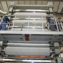 Máquina de calandragem para fabricação de placas duplex