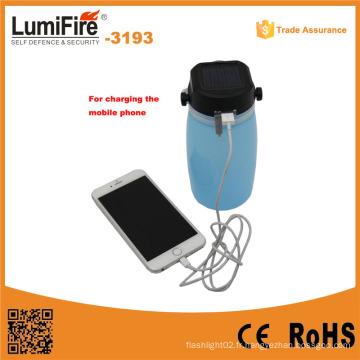 3193 Lanterne de terrain solaire à LED extérieure avec charge USB