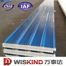 Cap or Over Lap Roof Panel with EPS/PU Core Materials