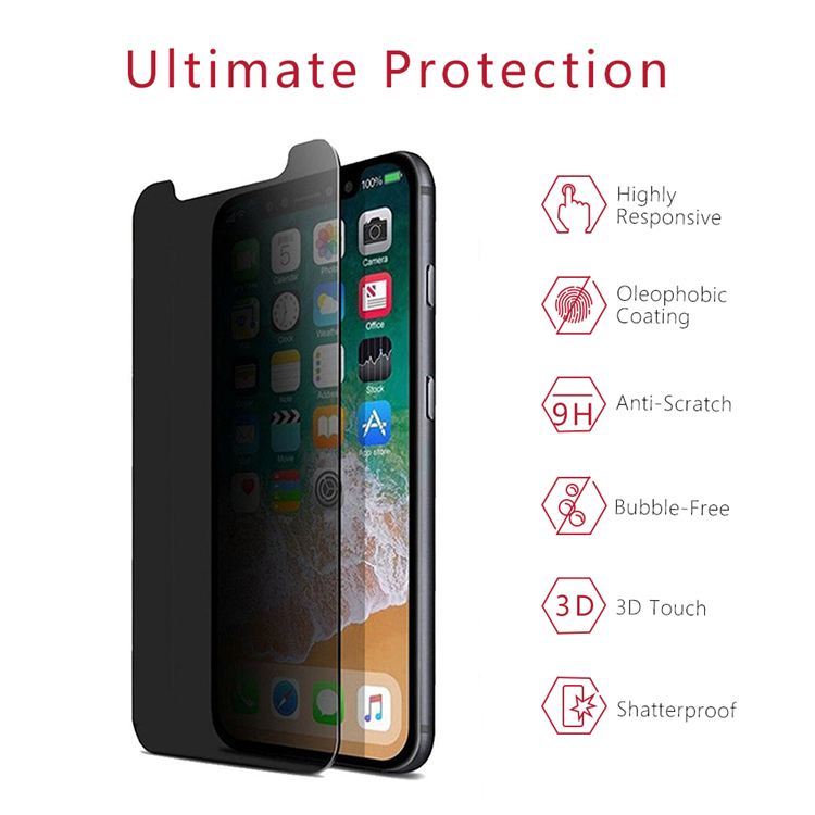 IPhone X Privacy Tempered Glass Protector
