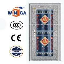 Außenansicht mit Edelstahl Sicherheitsglas Tür (W-GH-20)