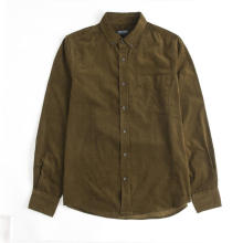 Camisa clásica de pana gruesa de manga larga para hombre