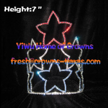 7inch Star Forth Of July Pageant Crowns