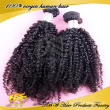Grau 6A Completa Cutícula 100% Não Transformados Virgem Russa Crespo Encaracolado cabelo reparação completa