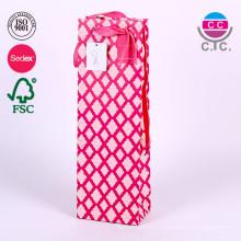 personnalisés différents types de sacs à provisions en papier rose design