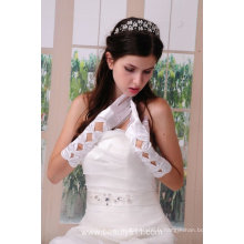 Astergarden Real Photo Gants de mariage nuptiale blanc ASJ003