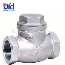 Tipo inoxidável do balanço poli da válvula de verificação do ferro dútile do fabricante poli da bola do sentido sanitário