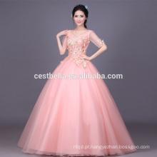 2017 Custom Made Pink Luxo Sequined Crystal Ruffles Vestido De Baile Vestido Quinceanera Formal Party Dress